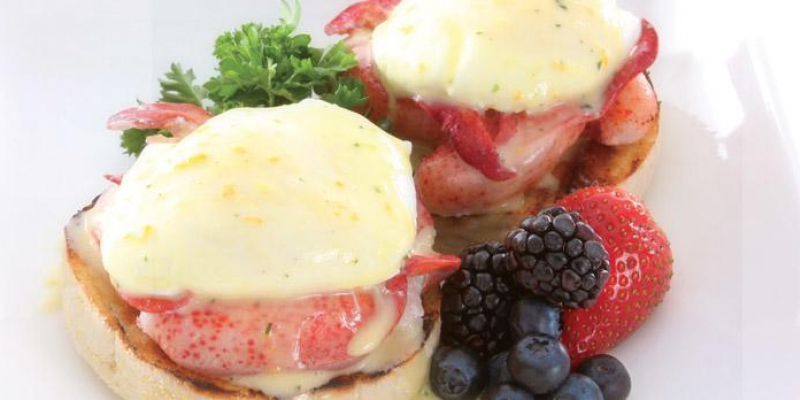 Lobster Eggs Benedict with Maltaise Sauce