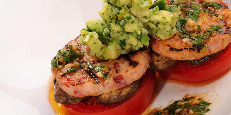 Lobster Stack with Chili-Lime Vinaigrette